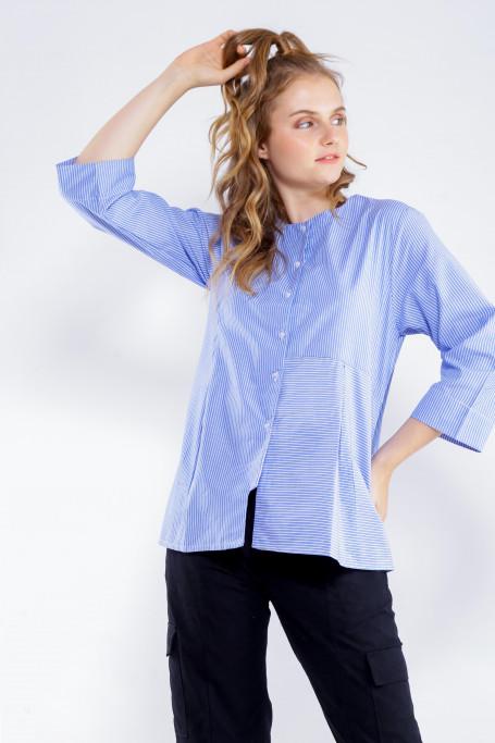 Blue-White Stripe Medium